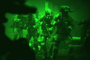 SEAL Team 6 in action, from Zero Dark Thirty.