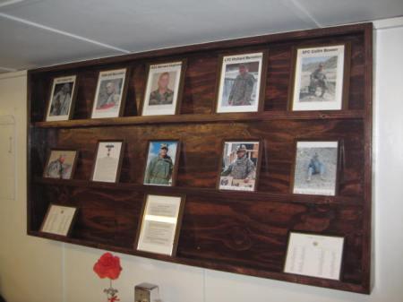 Fallen Heroes Wall, FOB Lightning, Gardez, Afghanistan