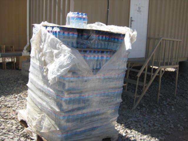Bottled water, FOB Lightning, Gardez, Afghanistan.