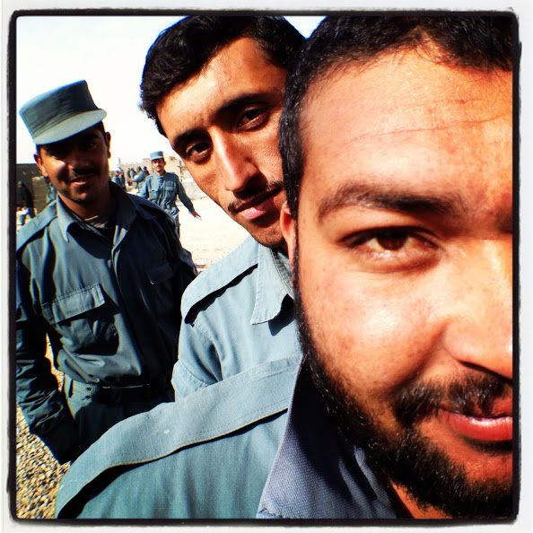 Afghan Natonal Police at Camp Leatherneck