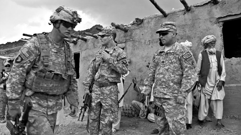 American soldiers in Afghanistan.  Picture by Bill Putnam, used by permission.