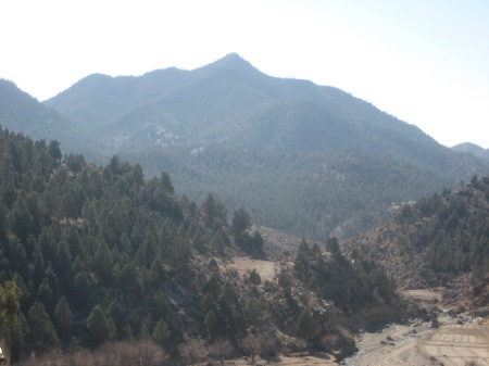 Paktika in the distance, picture taken from Spera Combat Outpost, Khost Province, 2009.