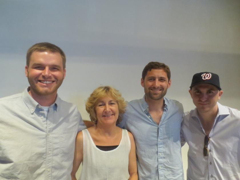 Left to right, Brandon Willetts, Masha Hamilton, Phil Klay, and Maxwell Neely-Cohen