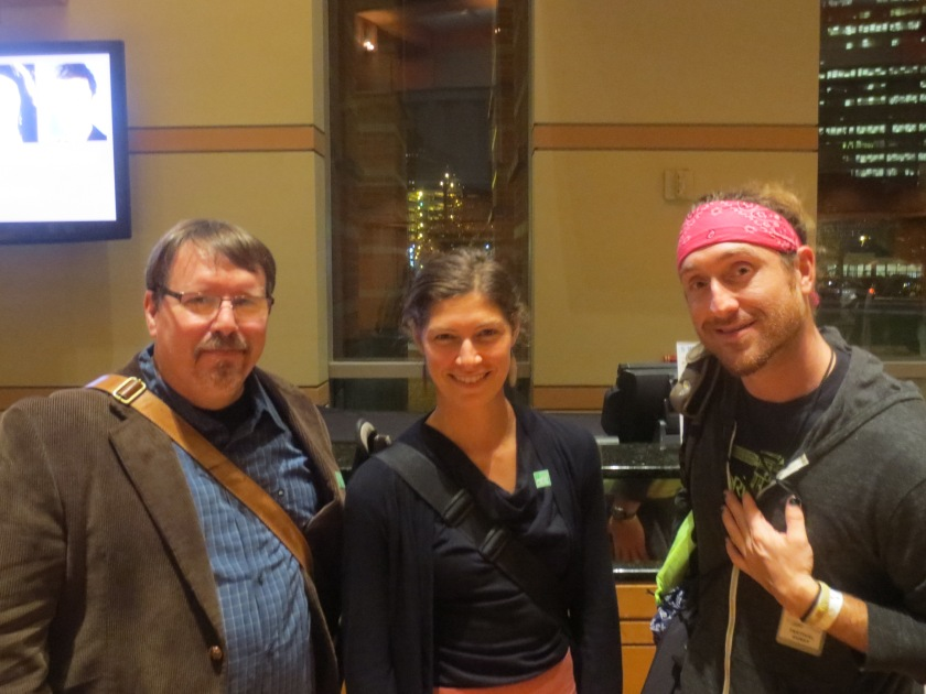 Brian Turner, Elyse Fenton, and Jeremy Stainthorp Berggren at Dodge Poetry Festival 14