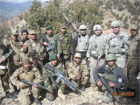 US, Afghan, and Pakistan forces on the Afghanistan-Pakistan border, Khost Province, 2009