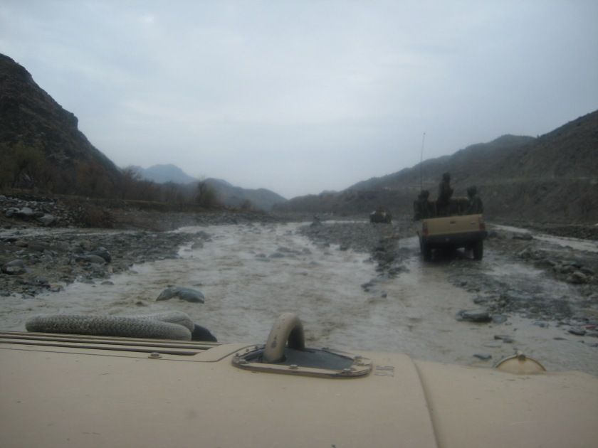 On the wadi road to Spera, Khost province, Afghanistan, January 2009.