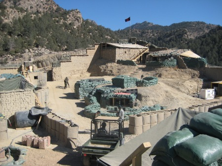 Spera Combat Outpost, a combined US-Afghanistan outpost on the Pakistan border.