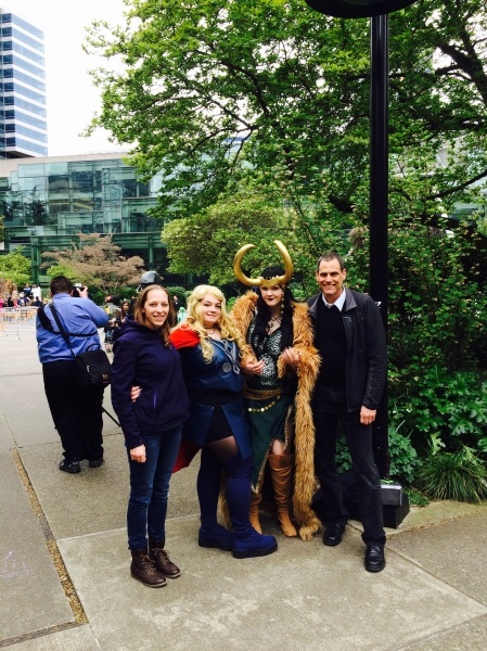 Fellow ACLA attendee and US Army major and Iraq veteran Deborah Dailey and me at Emerald City ComicCon, 2015.