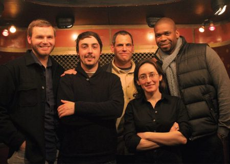 Brandon Willitts, Matt Gallagher, me, Teresa Fazio,  Paul Wolfe