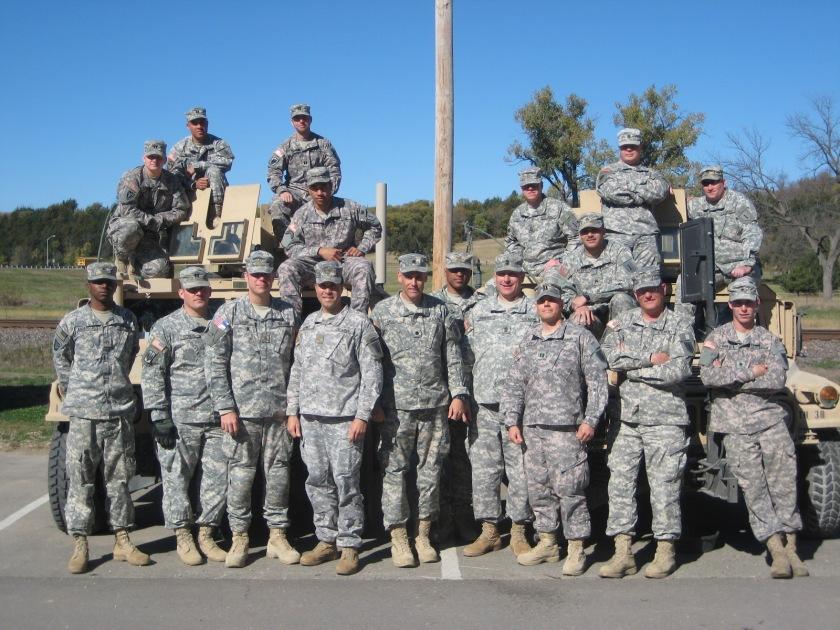 My advisor team, prior to deployment to Afghanistan. Fort Riley, KS, 2008