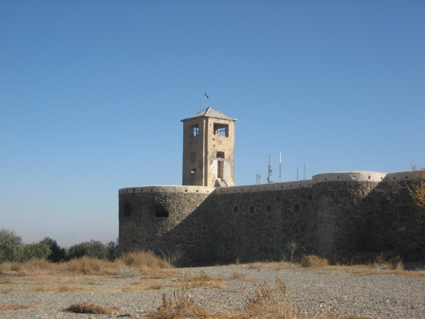 The anatopic presence of antenna on a hundreds-year-old fortress in Afghanistan.